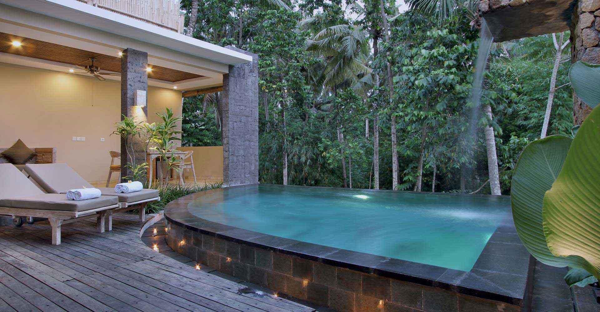 Private pool villas alena ubud resort official website for Garden pool villa ubud village resort
